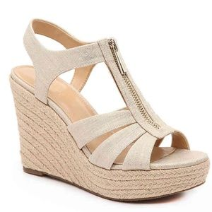 Michael Kors Berkley Espadrille Wedge Sandal NEW 8